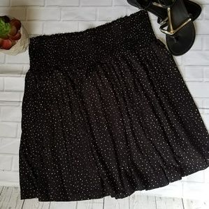 NWT H&M Black and White Dotted Skirt